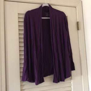Rich purple buttonless sweater, George brand.